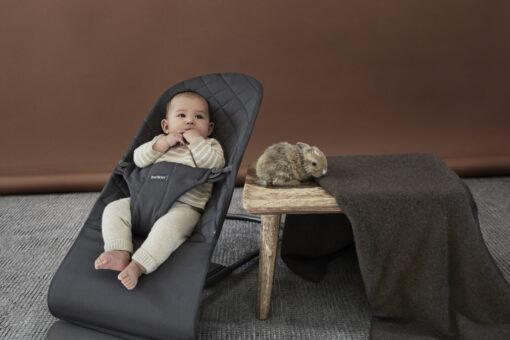 BabyBjörn ležaljka Bliss - Anthracite, Cotton