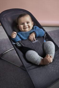 BabyBjörn ležaljka Bliss - Anthracite, Mesh
