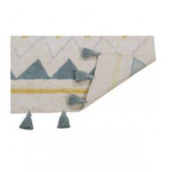 Lorena Canals tepih - Azteca Natural - Vintage Blue, dvije veličine