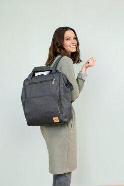 Lässig ruksak/torba za kolica - Glam Goldie Anthracite