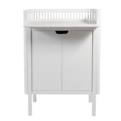 Sebra komoda za previjanje bebe - bijela