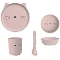 Liewood set za jelo - Cat Rose