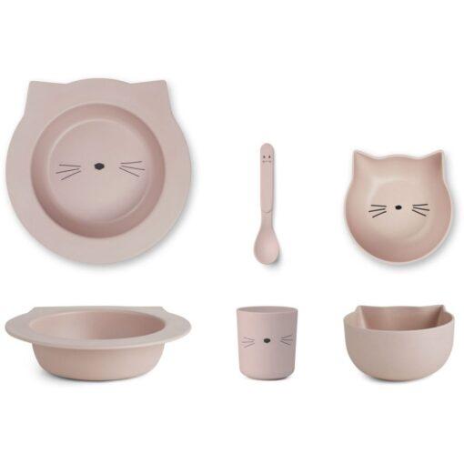 Liewood baby set za jelo - Cat Rose