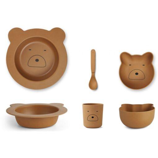 Liewood baby set za jelo - Mr. Bear Mustard