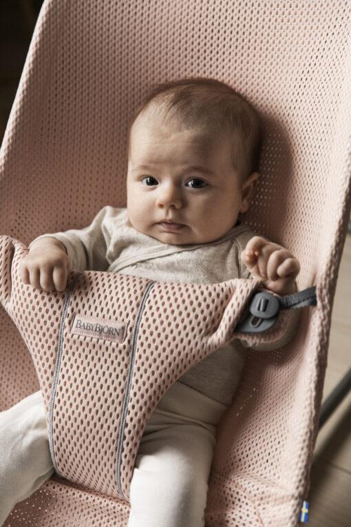 BabyBjörn ležaljka Bliss - Pearly Pink, Mesh