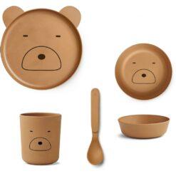 Liewood set za jelo - Mr. Bear Mustard