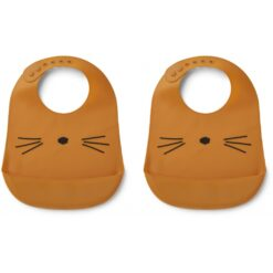Liewood podbradnici (2 kom) - Cat Mustard