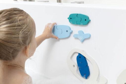 Quut puzzle za kupanje - Kitovi i ribe