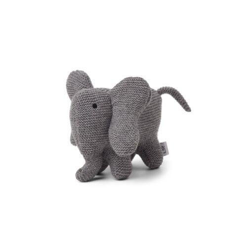 Liewood pletena zvečka - Slon, sivi
