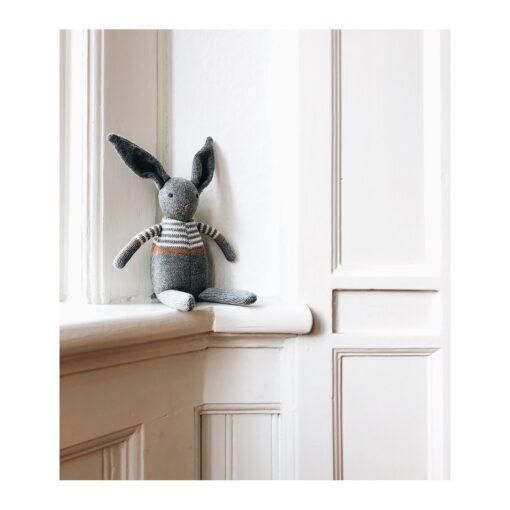 Liewood pletena zvečka - Zec, sivi