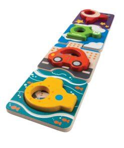 PlanToys - Puzzle vozila