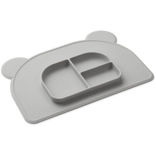 Liewood 2u1 podmetač i tanjur - Dumbo Grey
