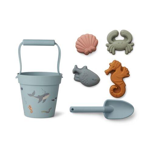 Liewood set za plažu - Sea Creatures mix