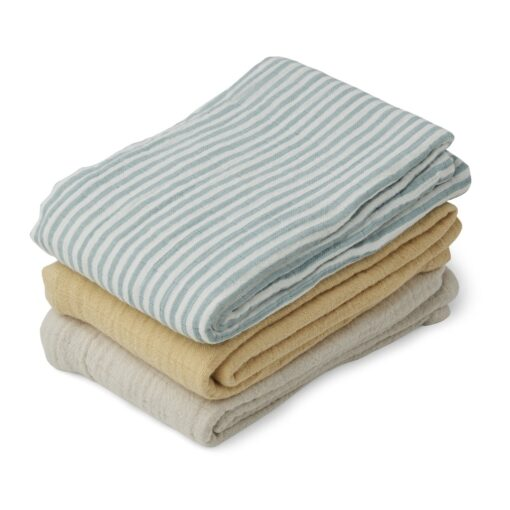 Liewood tetra pelene (3 kom) - Sea Blue Stripe Mix