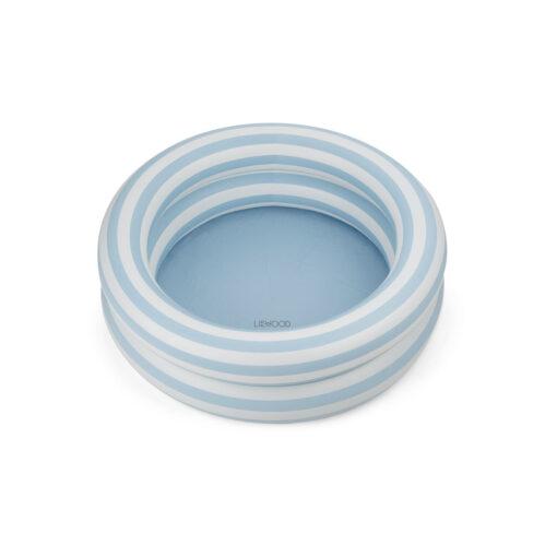 Liewood bazen (80 cm) - Stripe: Sea blue/creme de la creme